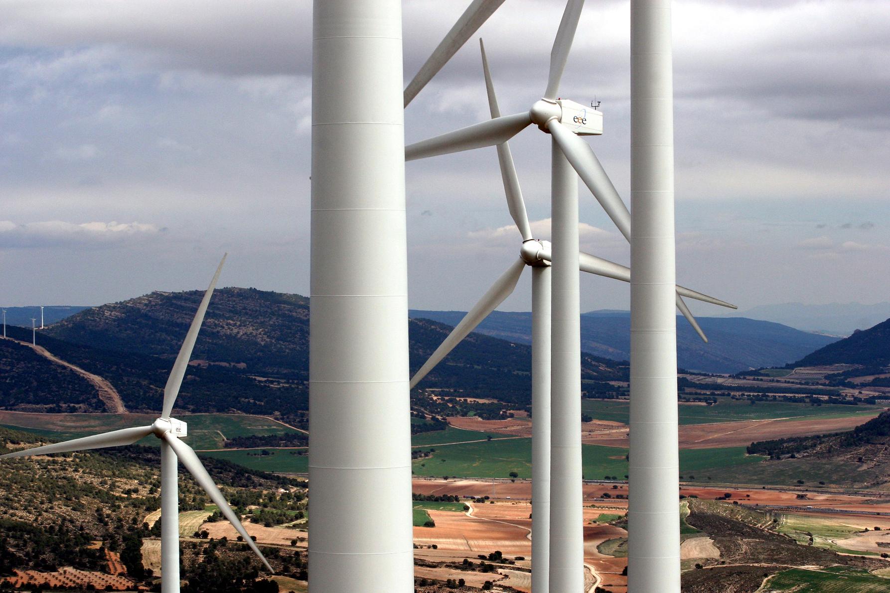 La energía eólica en España creció un 5,1% en 2011