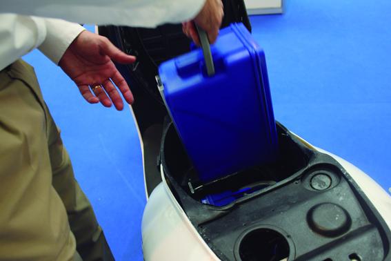 batería saft-Cartucho en scooter