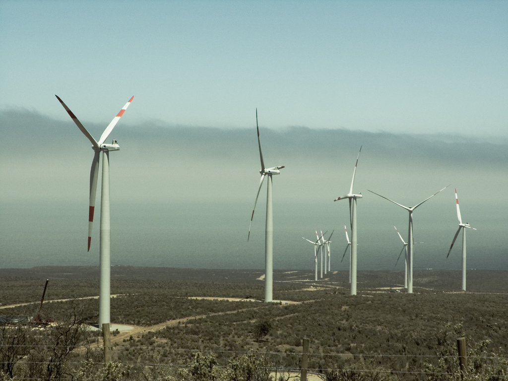 Eólica en Chile: parque eólico Lebu Etapa III con 115 aerogeneradores