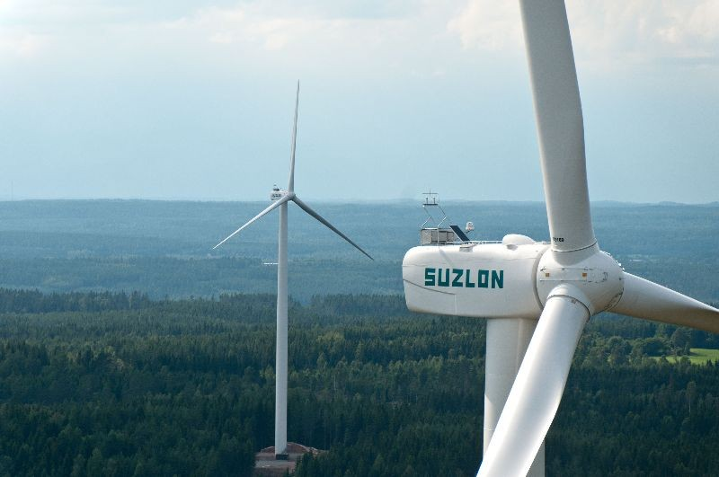 Suzlon aerogeneradores eólica eólico