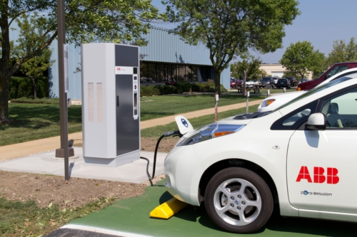 ABB's First US-Based Fast Charger for Electric Vehicles