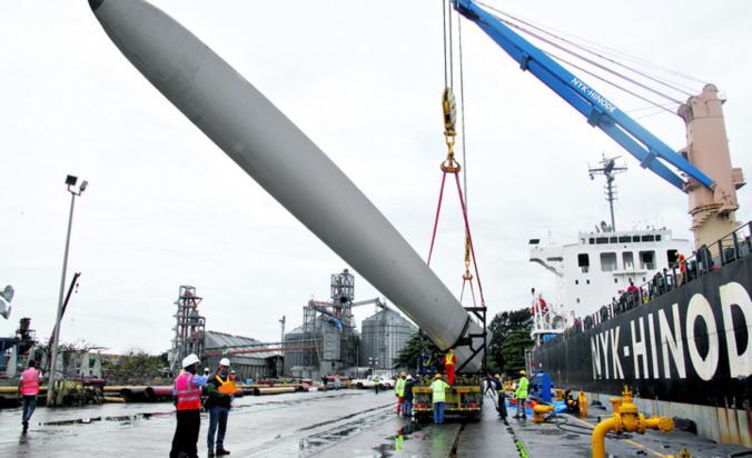 Aerogeneradores para el primer parque de energía eólica de Panamá