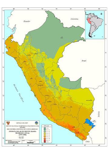 Perú espera que las energías renovables, eólica, fotovoltaica y geotérmica, supongan el 5% de la generaciónrgía en Perú