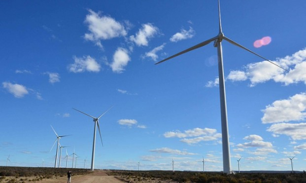 La energía eólica avanza en Chubut