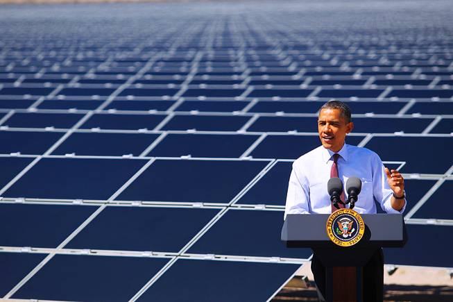 Obama apoya las energías renovables en conferencia en Las Vegas