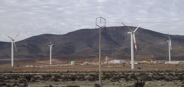Parque eólico para la minería en Chile