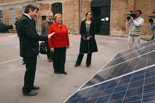 Presidenta Michelle Bachelet apuesta por desarrollar las energías renovables