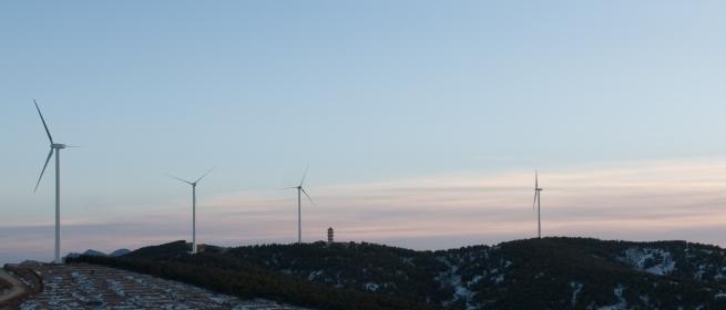 Energías renovables: Aerogeneradores de Gamesa para un parque eólico en Fujian.