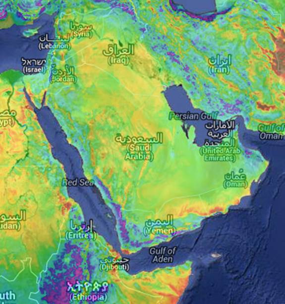 saudi arabia wind energy map