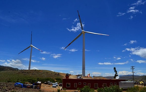 Eólica en Bolivia: Siemens financiará parque eólico de La Ventolera en Tarija