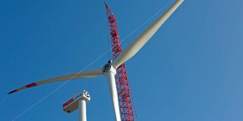 wind turbine installed at Königshovener Höhe