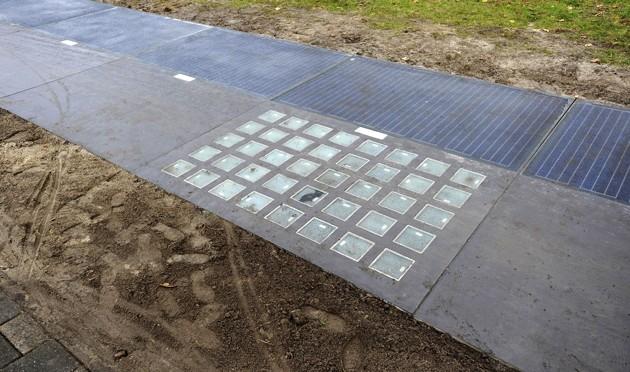 Carril para bicicletas genera energía solar