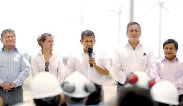Energías renovables en Perú: Humala inagura central eólica de Talara.