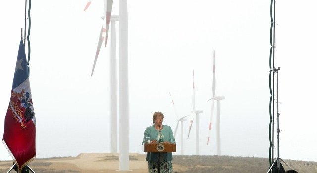 chile eólica Bachelet