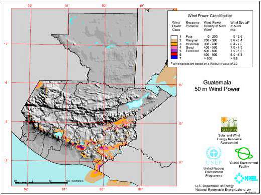 guatemala wind map
