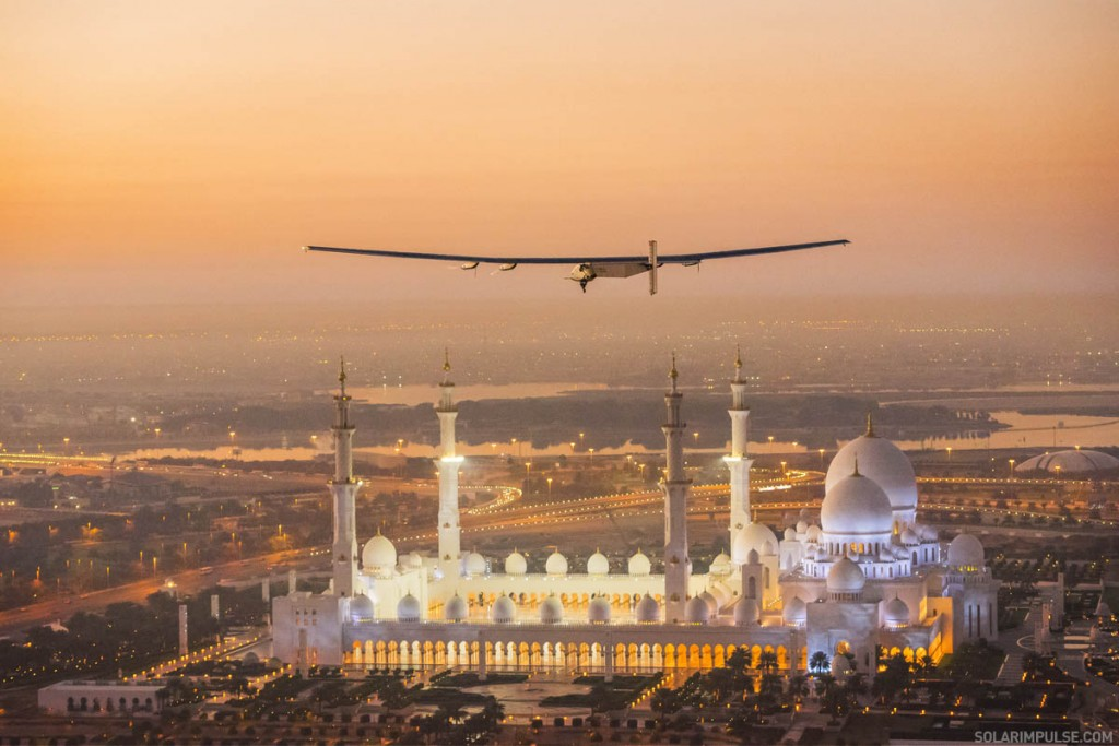 First Test Flight of Solar Impulse 2 in Abu Dhabi, United Arab Emirates