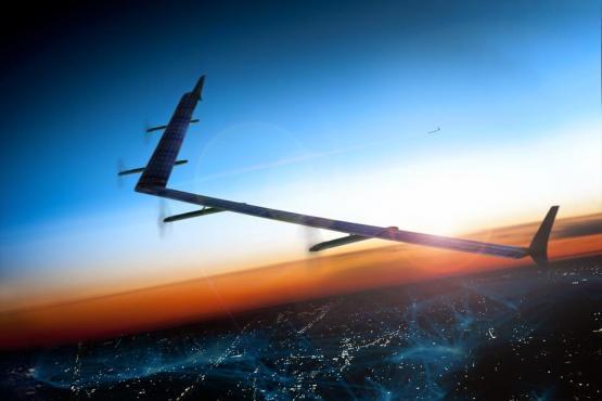 Facebook lanza drones con energía solar fotovoltaica para universdalizar Internet