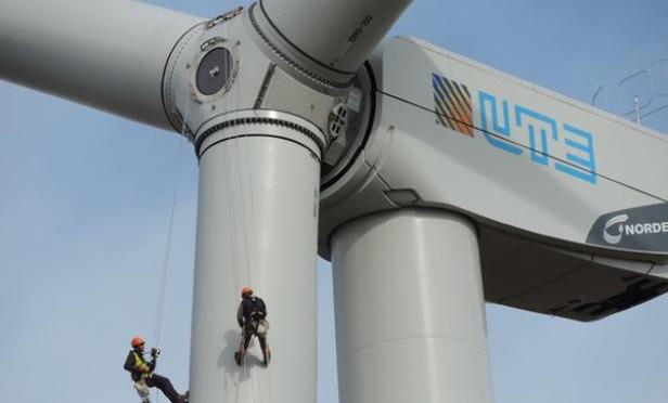 parque eólico de UTE