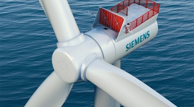 Eólica marina: Siemens comecializa sus aerogeneradores de 7 MW