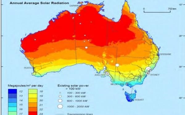 Acuerdo sobre el objetivo de uso de energías renovables en Australia, eólica y energía solar
