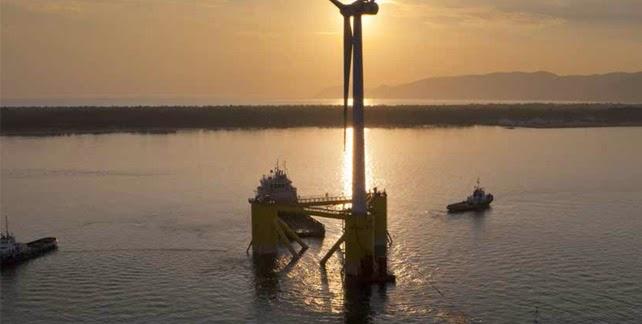 E�lica marina y energ�as renovables: Primer parque e�lico de EE UU en Rhode Island.