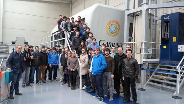 UPNA visita la empresa de energías renovables, la eólica Gamesa, el mayor fabricante español de aerogeneradores.