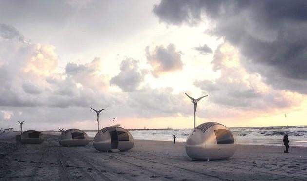 Ecocapsule: energía solar y eólica para la casa del futuro