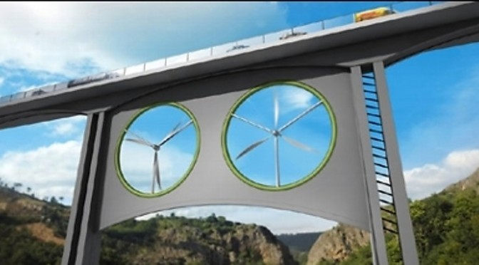 Energías renovables: Viaductos con aerogeneradores, nueva frontera de la eólica