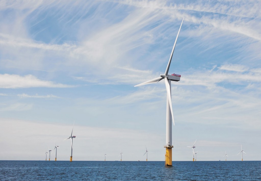 Eólica marina parque eólico aerogeneradores de Siemens