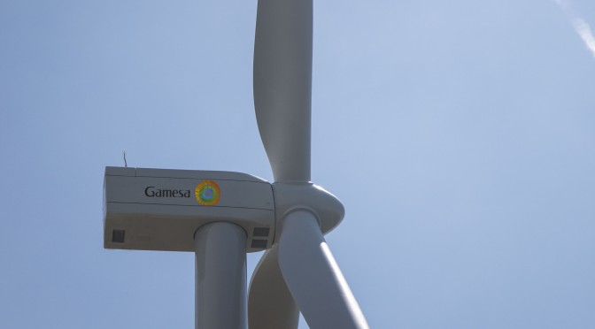 Aerogenerador G114-2.5 MW de Gamesa instalado en Alaiz (Navarra) comienza a producir energía eólica