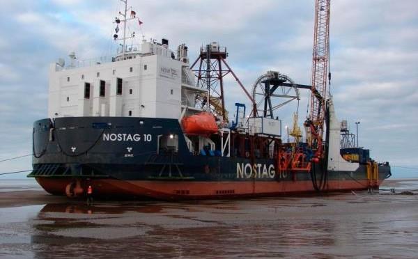 Eólica marina: parque eólico con 18 aerogeneradores de 6 MW en el mar del Norte