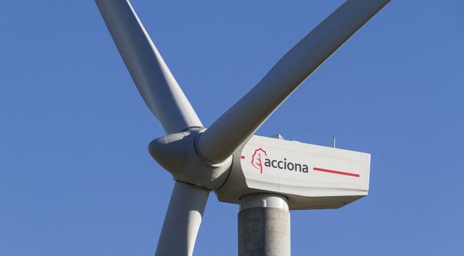 Acciona Energía presta servicios sólo con energía eólica