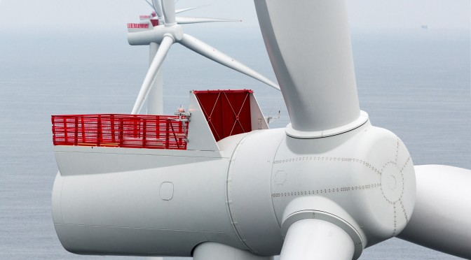 Inauguraron el parque de energía eólica marina de Borkum Riffgrund 1
