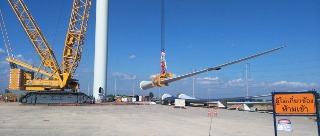 Las piezas de los aerogeneradores se encuentran ya en Punta de los Vientos