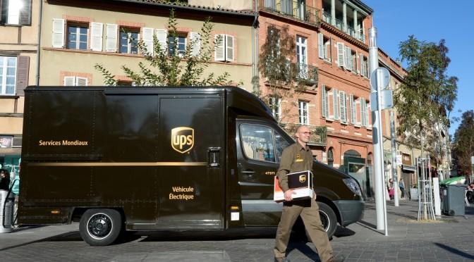 Vehículo eléctrico de UPS