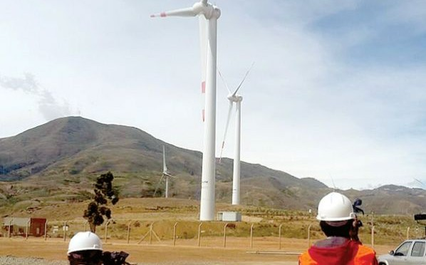 La Fase II del proyecto eólico de Qollpana tiene 91 por ciento de avance