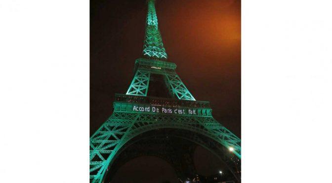 Entra en vigor el Acuerdo de París