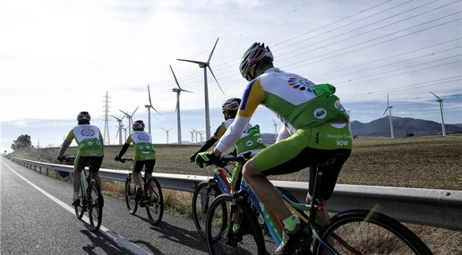 En bicicleta contra el cambio climático
