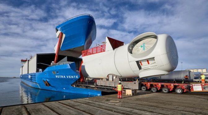 Un hito de la logística de la eólica marina de Siemens