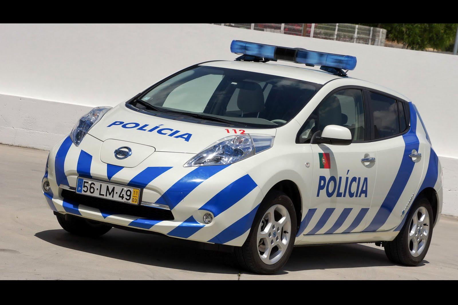Coches eléctricos Nissan LEAF para la policía portuguesa