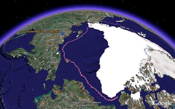 Récord histórico de mínimo de hielo en el Ártico
