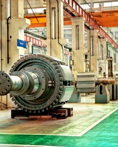 Hydro Generator rotor - Rotor Assembly Area - Alstom Hydro Manufacturing site in Galindo (Spain)