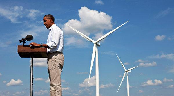 Obama desarrolla energías renovables para emitir menos CO2