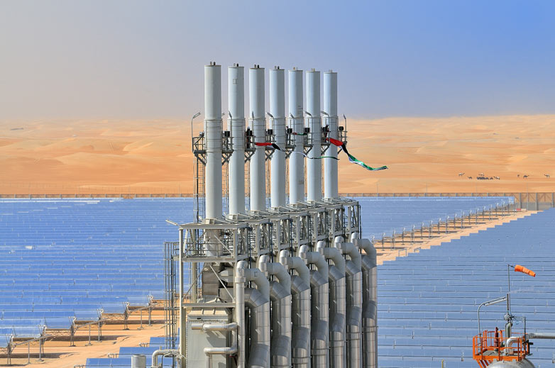 Abu Dhabi inaugura la mayor central termosolar del mundo