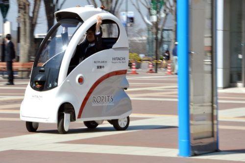 Hitachi diseña un coche eléctrico con piloto automático
