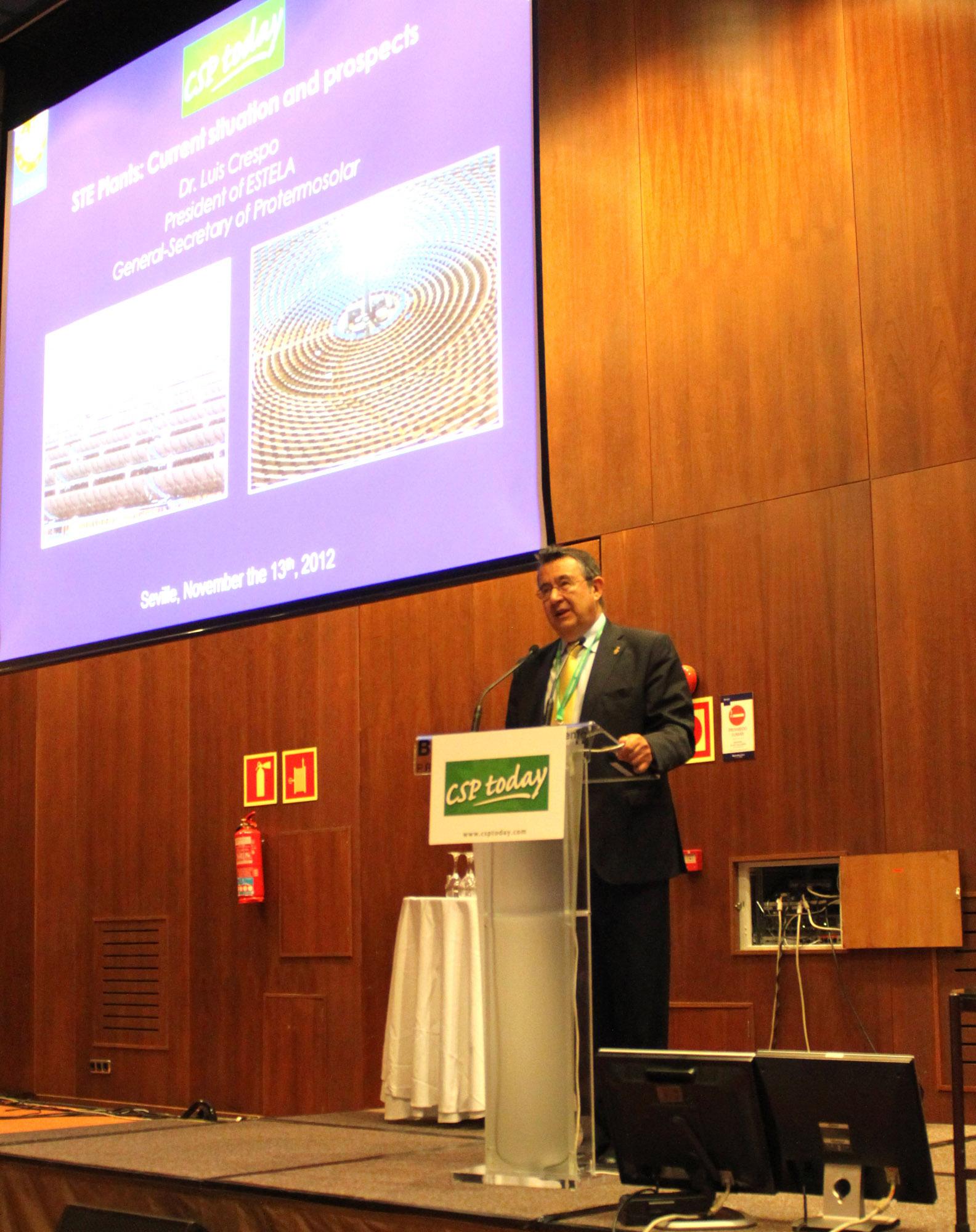 Energías renovables: Luis Crespo, reeligido presidente de la Asociación de Energía Termosolar Europea.