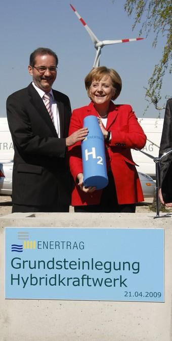 Pruebas para generar hidrógeno con energía eólica