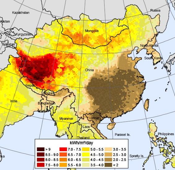 China cuadruplica su objetivo de termosolar y energía energía solar fotovoltaica para 2015