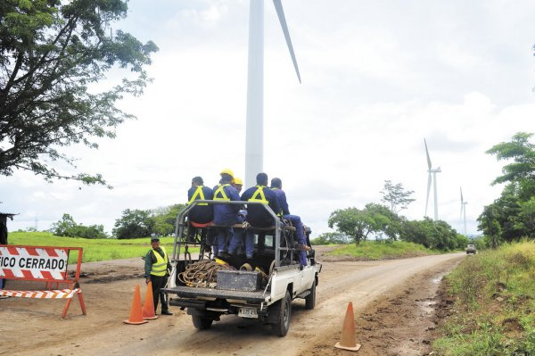 Eólica, geotérmica y otras energías renovables representan el 52% del consumo en Nicaragua