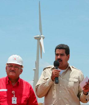 Eólica en Venezuela: Maduro inaugura parque eólico de la Guajira